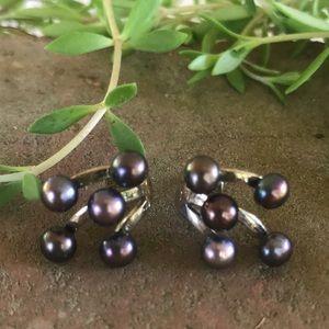 Jay King DTR Pearl 925 Sterling Silver Earrings